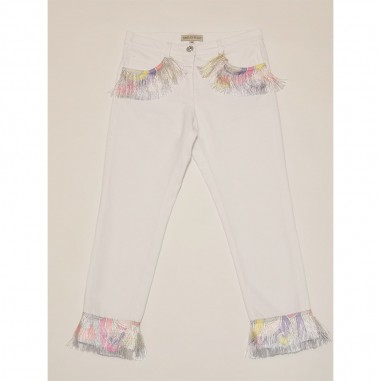Emilio Pucci Junior White Trousers - Emilio Pucci 9o6151-oc190-3-pucci21