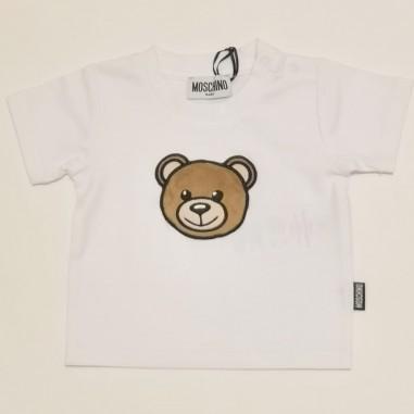 Moschino Kids White T-Shirt - Moschino Kids mum02i-bianco-moschinokids21