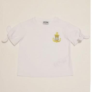 Moschino Kids White Tee Shirt - Moschino Kids hdm03n-moschinokids21