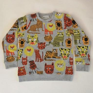 Stella McCartney Kids Cats Sweatshirt - Stella McCartney Kids 602247sqj17-stellakids21