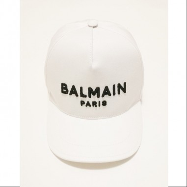 Balmain Kids White Cap - Balmain 6m0787-mx560-1-bianco-balmain21