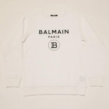 Balmain Kids White Basic Sweatshirt - Balmain 6m4760-mx270-2-bianco-balmain21