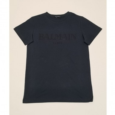 Balmain Kids Blue T-Shirt - Balmain 6m8721-mx030-2-blu-balmain21