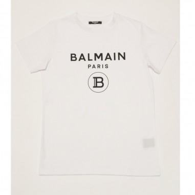 Balmain Kids T-Shirt Bianca Basica - Balmain 6m8701-mx030-2-bianco-balmain21