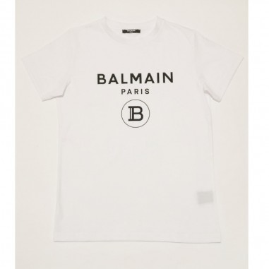 Balmain Kids White Basic T-Shirt - Balmain 6m8701-mx030-2-bianco-balmain21