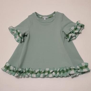 Piccola Ludo Mint Dress - Piccola Ludo tormalina-piccolaludo21
