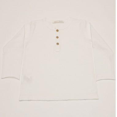 Zhoe & Tobiah White Henley Shirt - Zhoe & Tobiah je12-zhoetobiah21