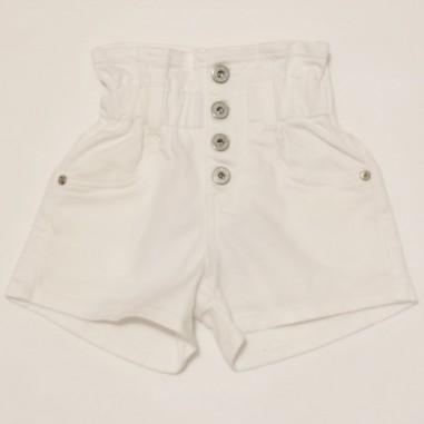 Dixie Kids White Shorts - dixie rb24f00g30-bianco-dixie21
