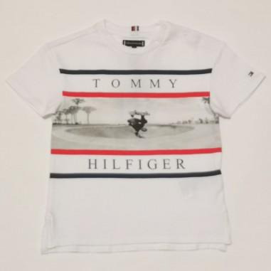 Tommy Hilfiger Kids T-Shirt Bianca - Tommy Hilfiger Kids kb0kb06528tommy21