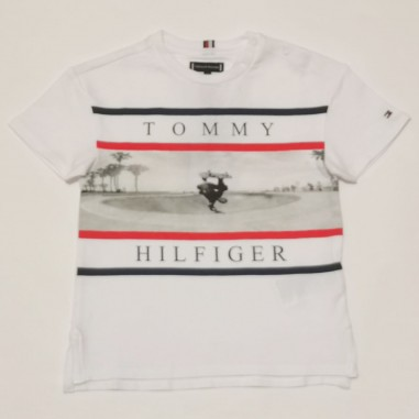 Tommy Hilfiger Kids White T-Shirt - Tommy Hilfiger Kids kb0kb06528tommy21