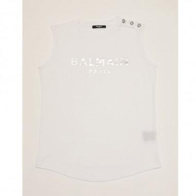 Balmain Kids White Tank Top - Balmain 6m8042-mx030-2-bianco-balmain21