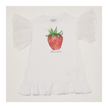 Monnalisa White Dress - Monnalisa 197925pc-monnalisa21