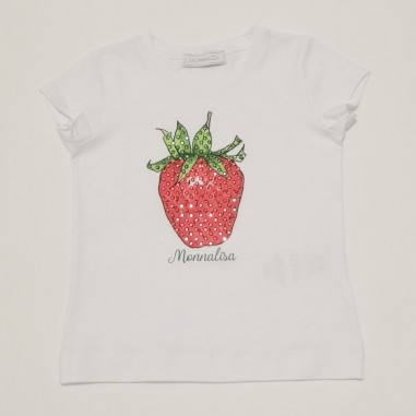 Monnalisa T-Shirt Fragola - Monnalisa 197620pb-monnalisa21