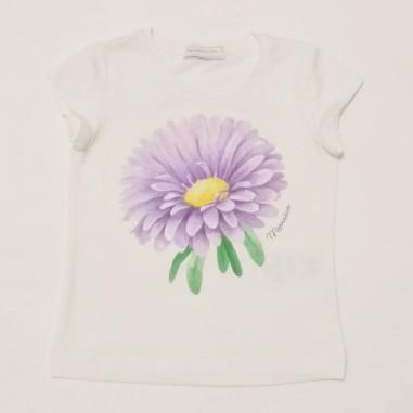 Monnalisa Floral T-Shirt - Monnalisa 117605si-monnalisa21