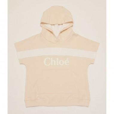 Chloé Kids Felpa Cappuccio - Chloé c15b80-rosa-chloe21