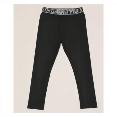 Karl Lagerfeld Kids Leggings Nero - Karl Lagerfeld Kids z14148-karllagerfeldkids21