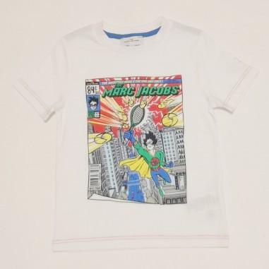 Little Marc Jacobs T-Shirt Bianca - Little Marc Jacobs w25470-bianco-littlemarcjacobs21
