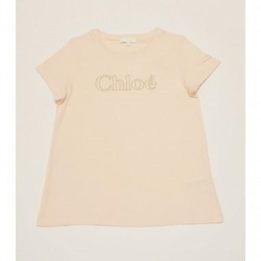 Chloé Kids T-Shirt Rosa - Chloé c15b84-rosa-chloe21