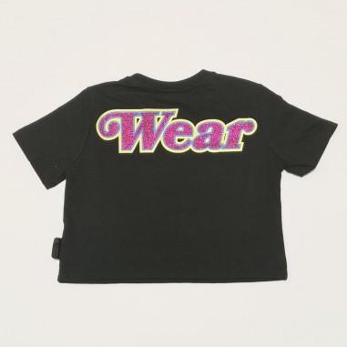 GCDS mini Black T-Shirt - GCDS mini 027668-nero-gcdsmini21