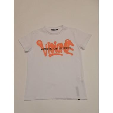 Vision of Super T-Shirt Bianca - Vision of Super - Orange voskw1sprayor-vos21