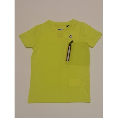 K-Way Le Vrai Isaie Green Lime - K-way k00beu0-kway21