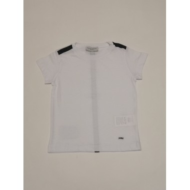 Paolo Pecora T-Shirt Boy Bianco Blu - Paolo Pecora pp2662-Bi/Bl-paolopecora21