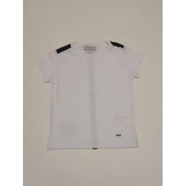 Paolo Pecora T-Shirt Boy pp2662-Bi/Bl-paolopecora21