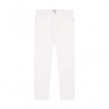 Paolo Pecora Boy White Ripped Trousers  PP1252