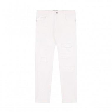 Paolo Pecora Pantalone bianco Strappi Bambino PP1252