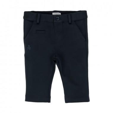 Le Bebé Pantalone neonato blu basico LBB1022