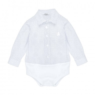 Le Bebé Micro Patterned Baby Body Shirt  LBB1138