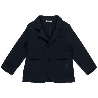 Le Bebé Giacca neonato blu Con Taschino LBB1040