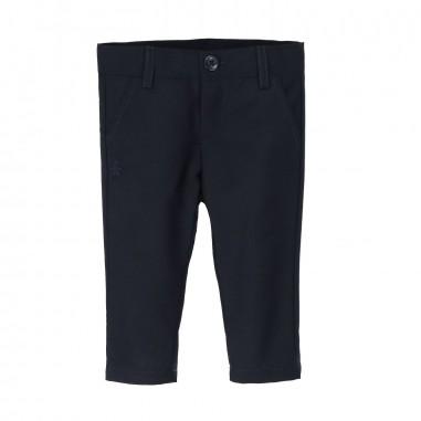 Le Bebé Pantalone neonato blu Basico LBB1066