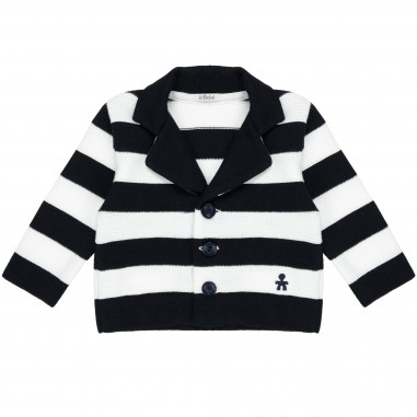 Le Bebé Cardigan neonato Righe LBB1224