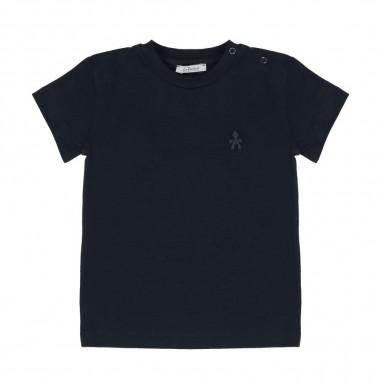 Le Bebé T-Shirt neonato manica corta blu LBB1253