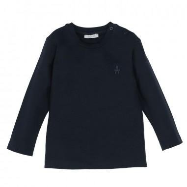 Le Bebé T-Shirt neonato manica lunga blu LBB1252