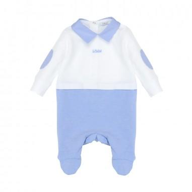 Le Bebé Tutina neonato bicolore Toppe LBB0921