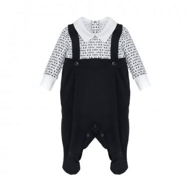 Le Bebé Tutina neonato Scritte All-Over LBB1096