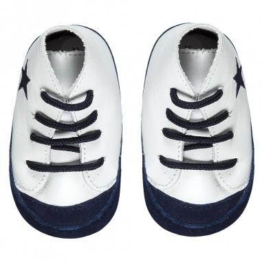 Le Bebé Sneakers neonato bicolore Stella LBB1024