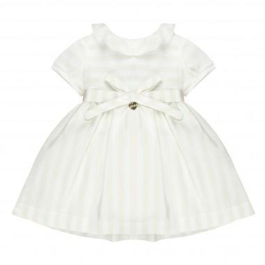 Le Bebé Vestito neonata righe cinta fiocco LBG1426
