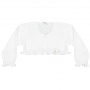 Le Bebé Coprispalle bianco neonata Rouches LBG1376