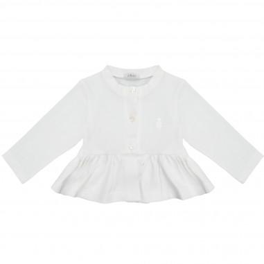 Le Bebé Baby Girl White Frilled Cardigan LBG1331