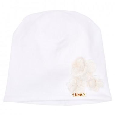 Liu Jo Cuffia neonata bianca con applicazione H18062J0088