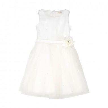 Monnalisa Girl White Party Dress 711902F8