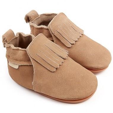 Boumy Baby Carmel Lining Navy Suede Slippers B012-SU001