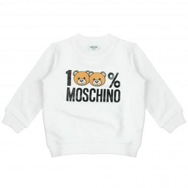 Moschino Kids Felpa 100% Moschino MTF00TLDA03-Cloud