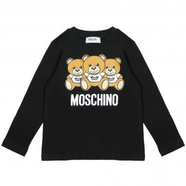 Moschino Kids T-shirt nera orsetti HRM01PLBA04