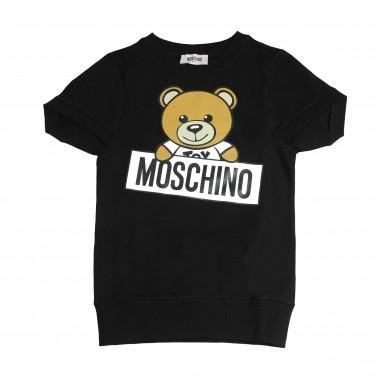 Moschino Kids Abito nero maxi-felpa HDV06OLDA03-NE