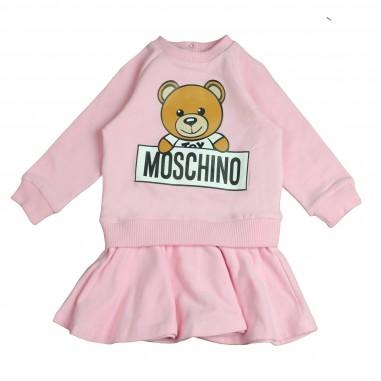 Moschino Kids Abito rosa orsetto MDY00DLDA03-ROSA