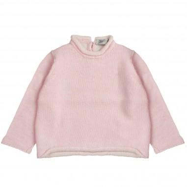 Giorgetti Maglia misto cashmere rosa per neonata MB664/MC-Rosa
